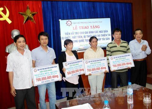 越南近二十万户灾民家庭获得资助