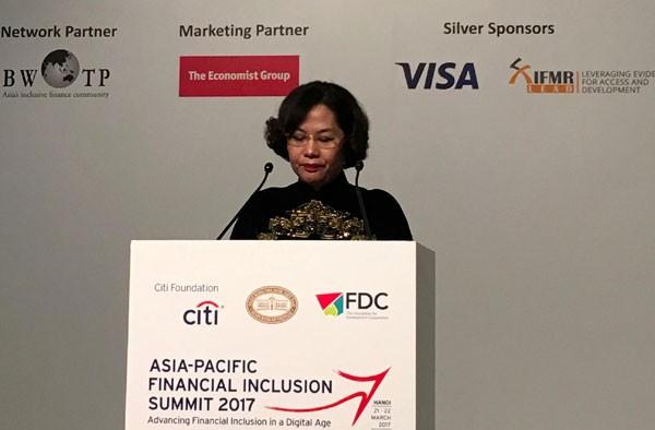 Pembukaan Konferensi keuangan komprehensif Asia-Pasifik tahun 2017 di kota Hanoi