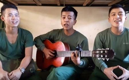 三名部队战士组合及其创作的歌曲