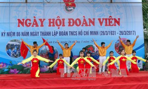 Muchas actividades con motivo del aniversario 86 de Unión de Jóvenes Comunistas Ho Chi Minh