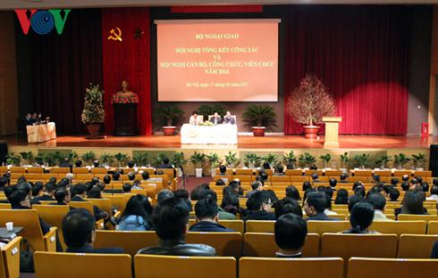 Konferensi evaluasi pekerjaan Kemlu Vietnam