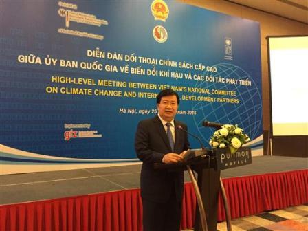 Việt Nam sẵn sàng hợp tác để thích ứng với biến đổi khí hậu và phát triển bền vững