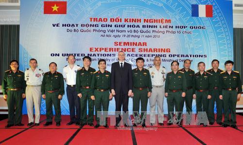 Trao đổi kinh nghiệm tham gia hoạt động Gìn giữ hòa bình Liên hợp quốc