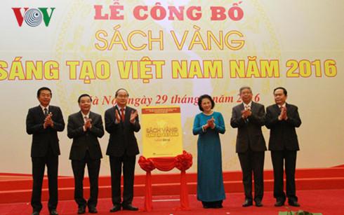 Công bố, phát hành Sách vàng Sáng tạo Việt Nam, tôn vinh các nhà khoa học, các nhà sáng chế VN