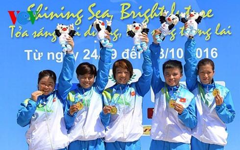 คณะนักกีฬาเวียดนามสามารถคว้าได้อีก๕เหรียญทองในเอเชียนบีชเกมส์ครั้งที่๕