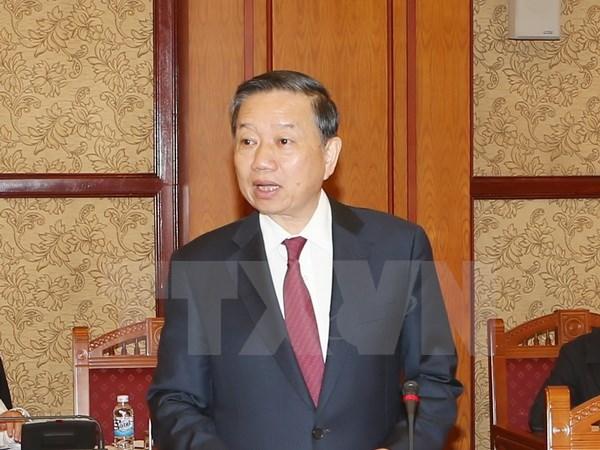 ผลักดันความร่วมมือระหว่างกระทรวงรักษาความมั่นคงทั่วไปเวียดนามกับกระทรวงความมั่นคงแห่งชาติจีน