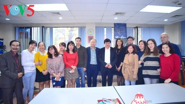 Tổng giám đốc VOV Nguyễn Thế Kỷ thăm và chúc Tết VOV5