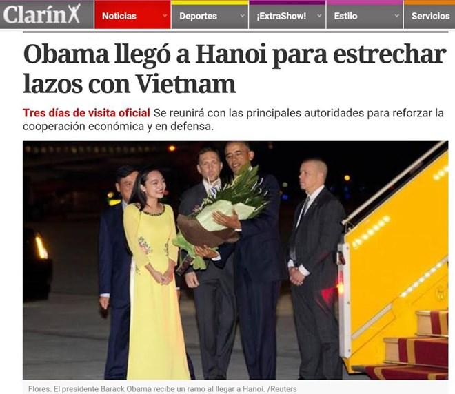 สื่อต่างประเทศรายงานการเยือนเวียดนามของประธานาธิบดีสหรัฐ บารัค โอบาม่า