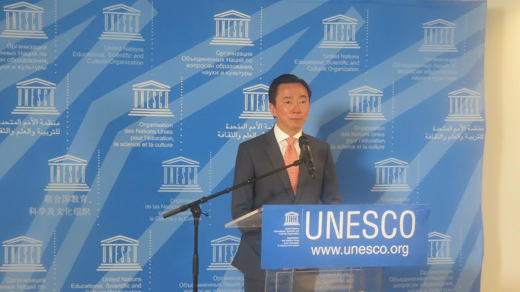 ឯកអគ្គរដ្ឋទូត Pham Sanh Chau ចុះឈ្មោះតំណែងអគ្គនាយក UNESCO