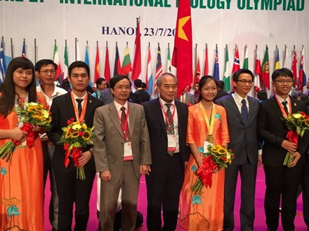 Les 27es Olympiades internationales de Biologie : tous les 4 élèves vietnamiens primés