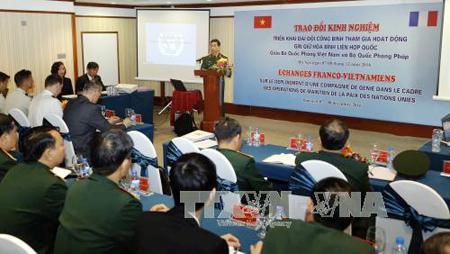 Vietnam y Francia consolidan cooperación en mantenimiento de la paz de la ONU