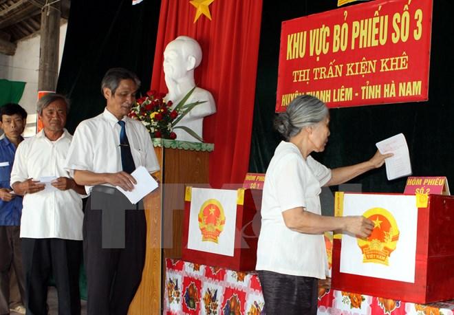 Pemilu anggota MN dan Dewan Rakyat berbagai tingkat di Vietnam