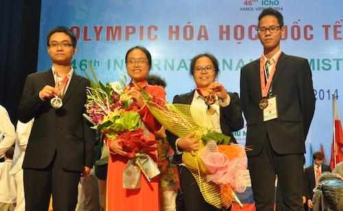 Ke-empat kontenten Vietnam merebut hadiah dalam Olimpiade Biologi Internasional  2016