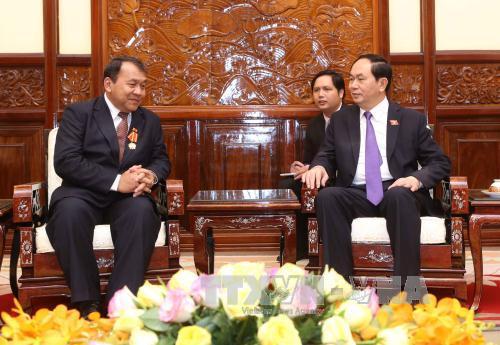 Presiden VN, Tran Dai Quang menerima Duta Besar Kamboja