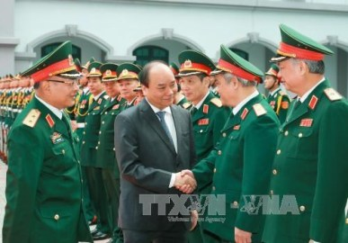 フック首相、国防省の情報総局を訪問