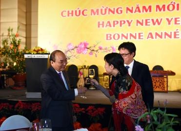 フック首相夫妻、新年祝賀会を主催