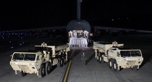 米韓両軍 THAAD装備一部を配備先に搬入