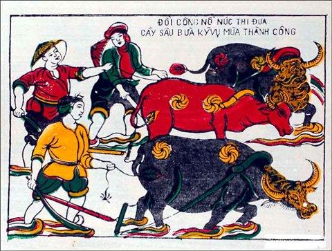 Ciri unik dari lukisan desa Sinh