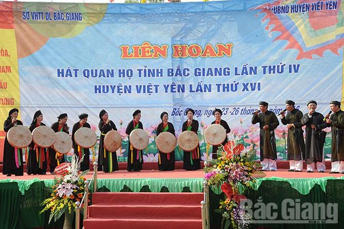 Mengkonservasikan dan mengembangkan Pusaka lagu rakyat Quan Ho di daerah tepi sungai Cau