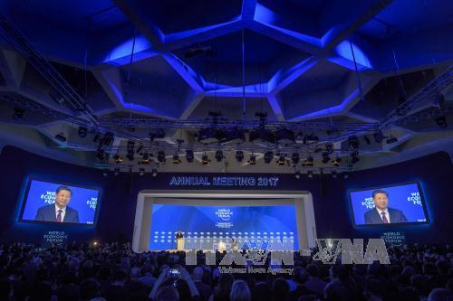 Konferensi WEF 2017: Tiongkok mengimbau kepada AS supaya bersama-sama berusaha keras membangun hubungan yang erat