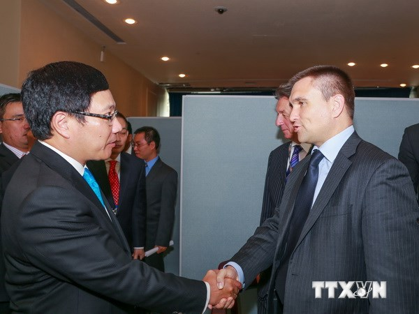 Deputy PM Pham Binh Minh continues with bilateral meetings