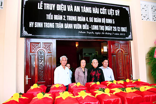 Repatriation of soldiers' remains in Dong Nai province
