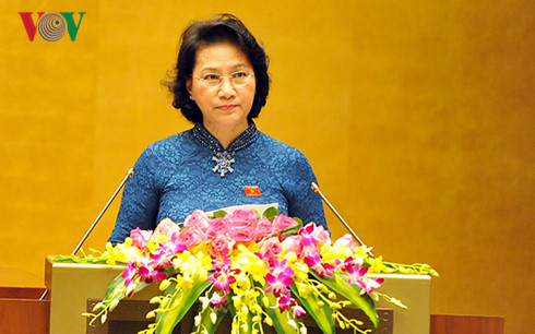 Nguyen Thi Kim Ngan introduced as chairwoman of the 14th NA