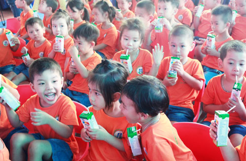 School milk program in Bac Ninh