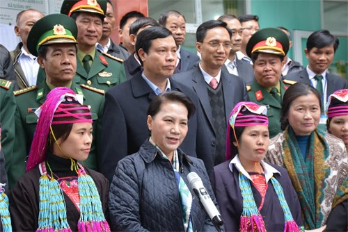 NA Chairwoman Nguyen Thi Kim Ngan visits Quang Ninh province