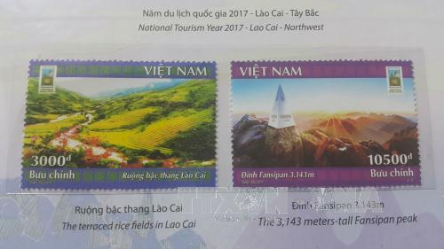 Lao Cai issues stamp collection to mark National Tourism Year 2017