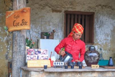 ハザン省にある日本人が作ったコーヒー店