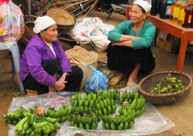テト間近の市場
