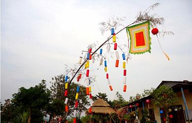越南春节的迎春竿