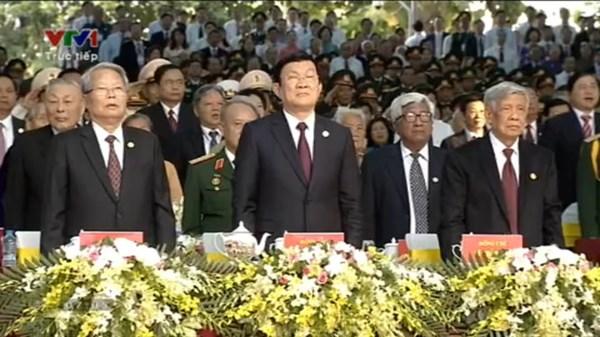 庆祝南方解放国家统一40周年的纪念集会阅兵式及群众游行在胡志明市举行
