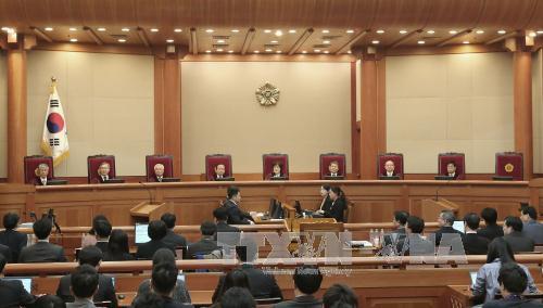 韩国总统朴槿惠弹劾案最终庭审结束