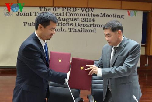 VOV enhances communication cooperation with Thailand
