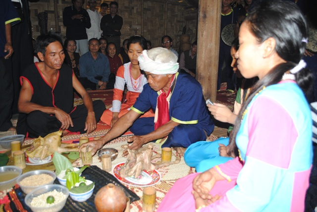 New rice ceremony of the Raglai