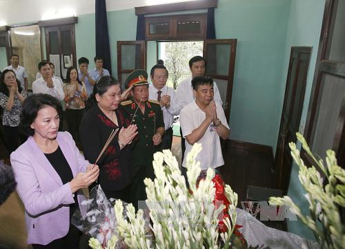 National Assembly Chairwoman pays tribute to late President Ho Chi Minh