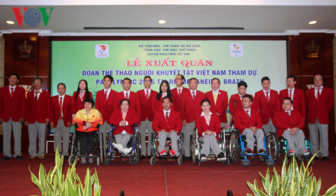 Vietnam's athletes with disability depart for Brazil Paralympics