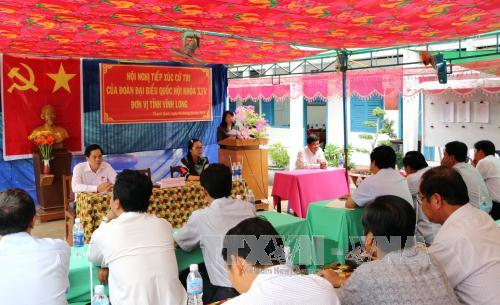 Deputies meet voters prior to the 14th National Assembly's 2nd session