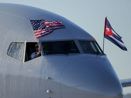 First US commercial flight lands in Cuba