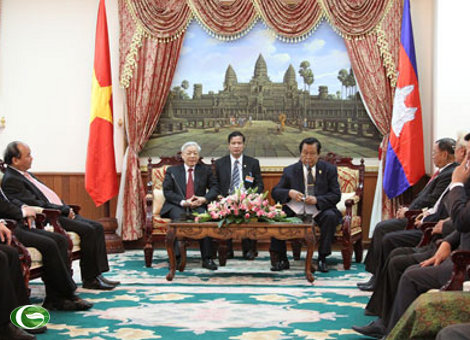 Party leader calls for further strengthened ties with Cambodia