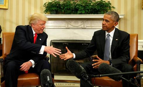 Trump, Obama meet for transition talks
