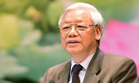 越共中央总书记阮富仲启程对中国进行正式访问