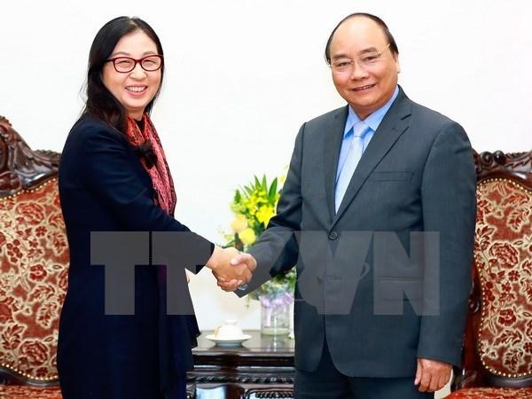 阮春福总理会见中国华为集团代表团