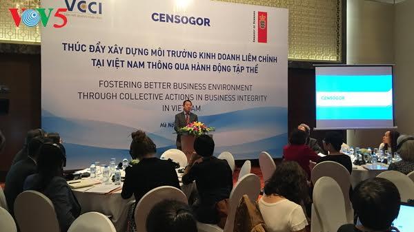 推动在越南打造廉洁营商环境