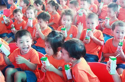 Effektivität des Milchprogramms in Kindergärten in Bac Ninh