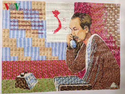 Maler Do Lenh Tuan und seine Bilder aus Briefmarken