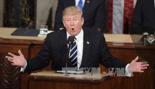Präsident Donald Trump mit optimistischer Vision über die USA