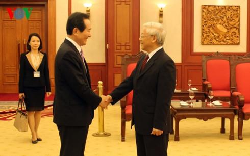 KPV-Generalsekretär Nguyen Phu Trong empfängt Südkoreas Parlamentspräsidenten Chung Sye-kyun